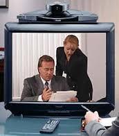 A PictureTel videoconferencing system.